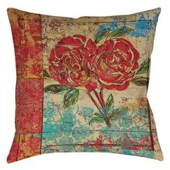 Valencia 2 Printed Throw Pillow Size: 18