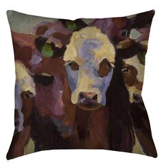 Class Picture Printed Throw Pillow Size: 14