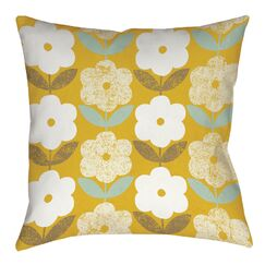 Jar of Sunshine Vintage Blossoms Printed Throw Pillow Size: 16