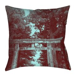 Nikko Gate Printed Throw Pillow Size: 26