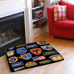 Police Patches Indoor/Outdoor Pet Bed Size: 40