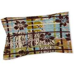 Floral Study in Plaid Sham Size: Queen/King