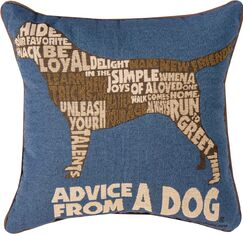 Advice from a Dog Text Throw Pillow
