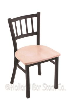 Nicolai Solid Wood Dining Chair Color: Dark Cherry Maple, Base Finish: Anodized Nickel