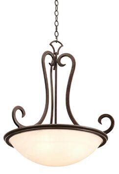 Santa Barbara 3-Light Bowl Pendant Shade Type: Victorian Penshell