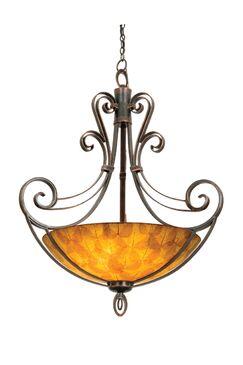 Mirabelle 6-Light Bowl Pendant Finish: Antique Copper, Shade Type: Victorian Penshell