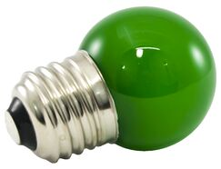 1W Green Frosted E17/Intermediate LED Light Bulb Wattage: 2