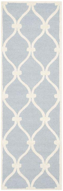 Martins Hand-Tufted Wool Blue Area Rug Rug Size: Runner 2'6