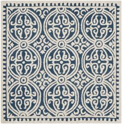 Fairburn Hand-Tufted Wool Navy Area Rug Rug Size: Square 6'