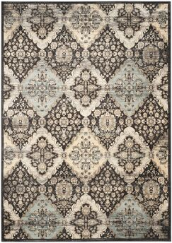 Mainville Runner Black/Ivory Area Rug Rug Size: Rectangle 8' x 11'