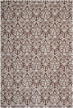 Helena Hand-Hooked Brown/Gray Area Rug Rug Size: Rectangle 7'9