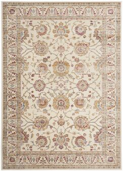 Enlow White/Brown Area Rug Rug Size: Rectangle 4' x 5'7