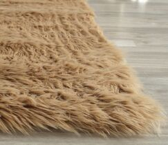 Isacc Hand-TuftedFaux Fur Brown/Tan Area Rug Rug Size: Rectangle 2' x 3'