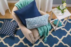 Charlenne Hand-Tufted Navy Area Rug Rug Size: Rectangle 6' x 9'