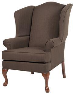 Al Maha Wingback Chair Upholstery: Brown