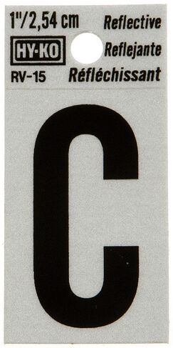 Reflective Letter Sign (Set of 10) Letter: C