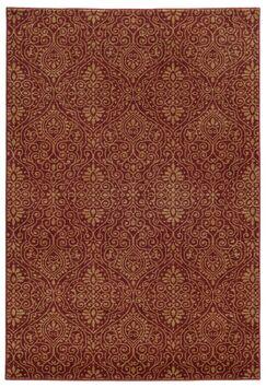 Tommy Bahama Voyage Red / Beige Floral Rug Rug Size: Rectangle 5'3