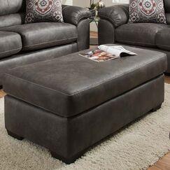 Ace Ottoman Upholstery: Santa Fe Grey
