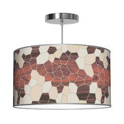 Organic Modern Geode Pendant Shade Color: Cream, Size: 9