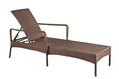 Key Biscayne Reclining Chaise Lounge with Cushion Color: Canvas Natural
