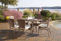 Key Biscayne 7 Piece Dining Set with Cushions Color: Davidson Wal
