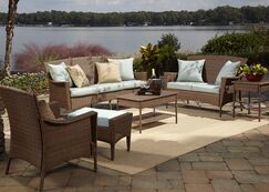 Key Biscayne 5 Piece Sofa Seating Group with Cushions Fabric: Canvas Spa
