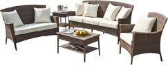 Key Biscayne Loveseat with Cushions Color: Dimone Palm