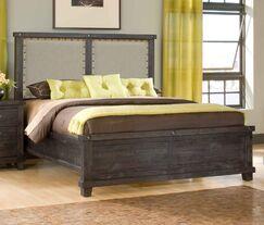 Langsa Upholstered Wood Platform Bed Size: King, Color: Café
