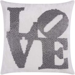 Luminescence Throw Pillow Color: Pewter