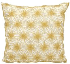 Siegel Throw Pillow Color: White/Gold