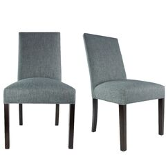 SL3000 Upholstered Parsons Chair Finish: Espresso, Upholstery Color: Ash Light Gray