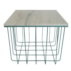 Emery End Table Color: Teal