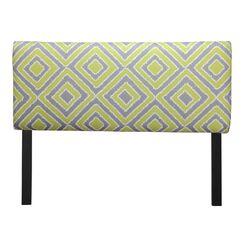 Ali Nouveau Upholstered Panel Headboard Size: Twin, Upholstery: Wasabi