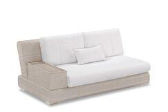 Sumba Loveseat Sectional Piece with Cushions Fabric: Sunproof Orange