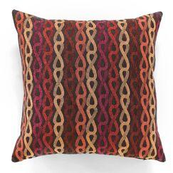 Cameroon Throw Pillow Color: Salsa