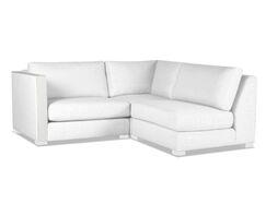 Steffi Plush Deep Modular Sectional Upholstery: White, Orientation: Left Hand Facing