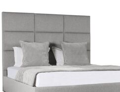 Handley Upholstered Panel Bed Color: Gray, Size: Mid Height King