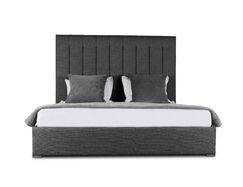 Handley Upholstered Panel Bed Color: Charcoal, Size: Mid Height King