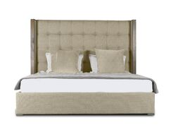 Hank Upholstered Platform Bed Size: Mid Height Queen, Color: Sand
