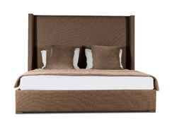 Hansen Plain Upholstered Panel Bed Color: Brown, Size: High Height King