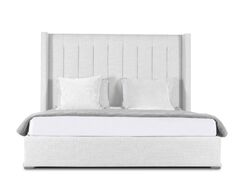Hansen Upholstered Panel Bed Size: High Height King, Color: White