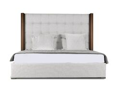 Harborcreek Upholstered Panel Bed Size: Mid Height Queen, Color: White