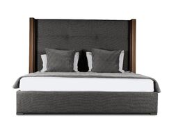 Harborcreek Upholstered Platform Bed Color: Charcoal, Size: High Height Queen