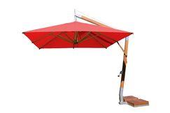 Sidewind 10' Square Cantilever Umbrella Fabric: Red
