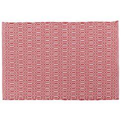 Bazaar Kitchen Mat Color: Red