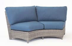 Losey Curved Loveseat with Cushion Frame Color: Espresso, Cushion Color: Canvas Crimson