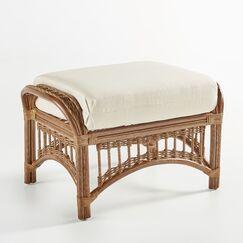 Staats Ottoman with Cushion Finish: Pecan, Fabric: Aquamarine