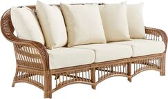 Staats Sofa with Cushions Frame Color: Pecan, Cushion Color: Cayenne