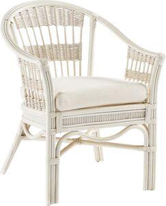 Bermuda Arm Chair Finish: Pecan, Upholstery: Spinnaker Sol