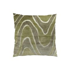 Lush Wave Throw Pillow Size: 20